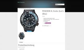 Erstellung eines Webshops für Uhren